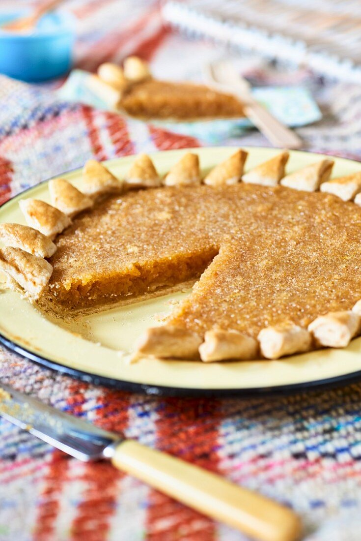 English treacle tart (picnic food)
