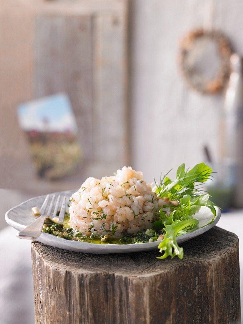 Rainbow trout tartar with lemon pesto (Switzerland)