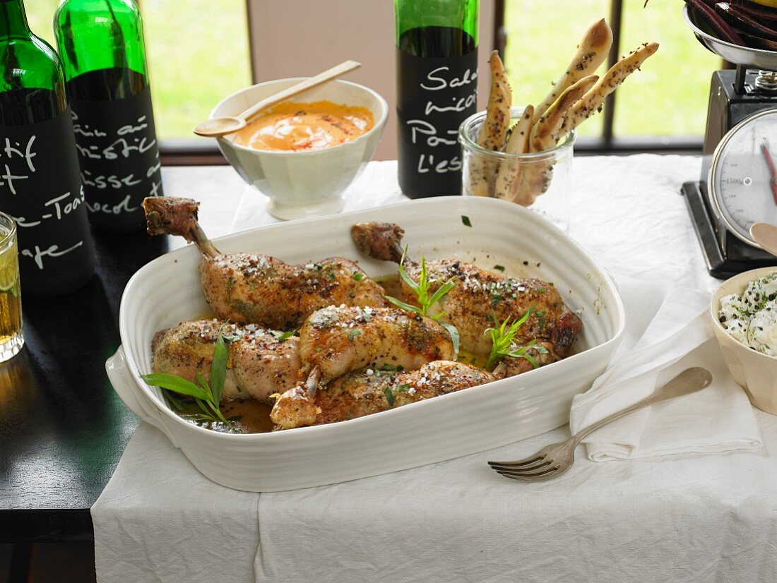 Chicken legs with tarragon (France)