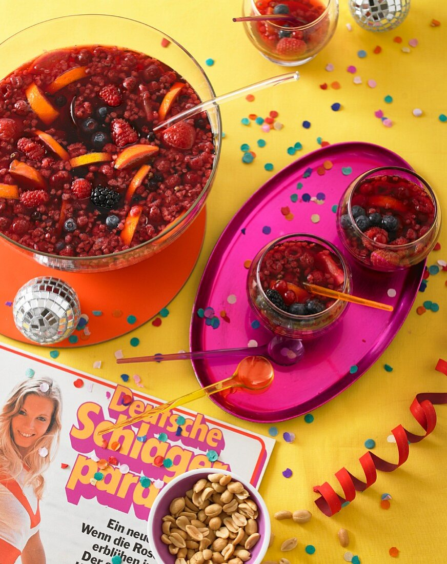 Greek wine punch for a music party