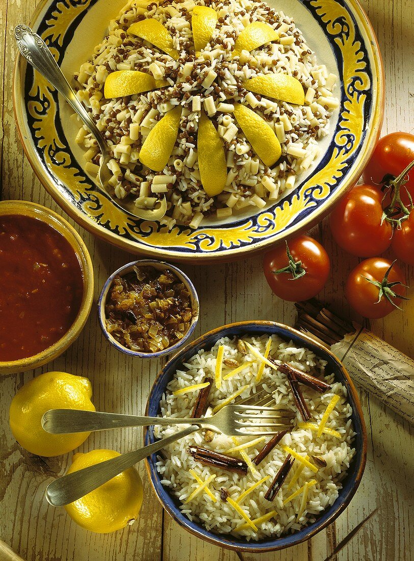 Two Assorted Arabic Dishes; Ingredients