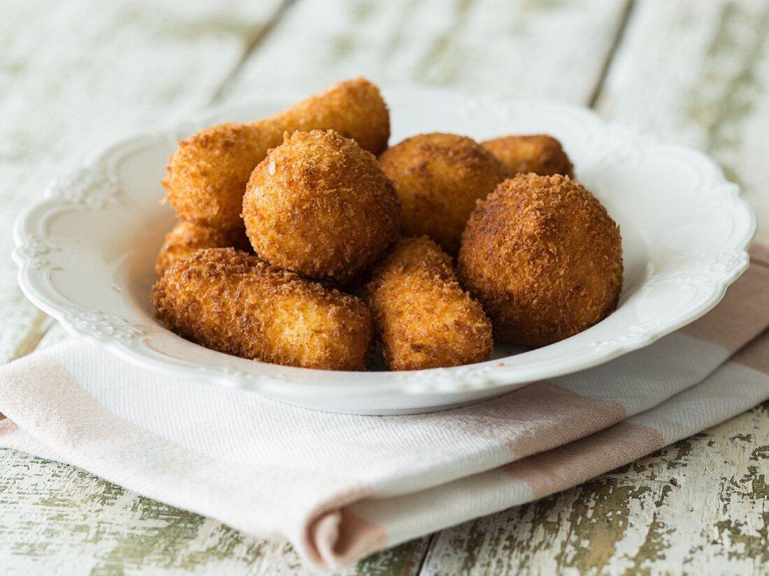 Vegan potato croquettes