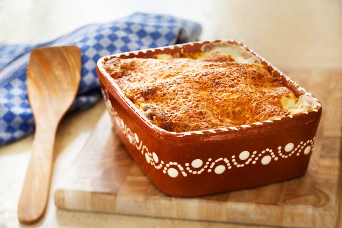 Salmon and spinach lasagne