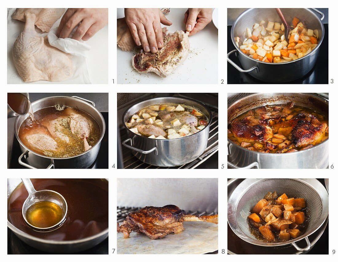 How to prepare goose leg