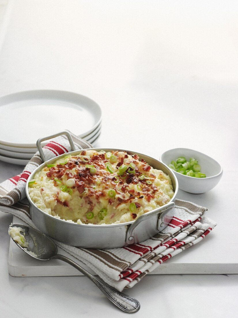 Mashed Potato and Bacon Pie