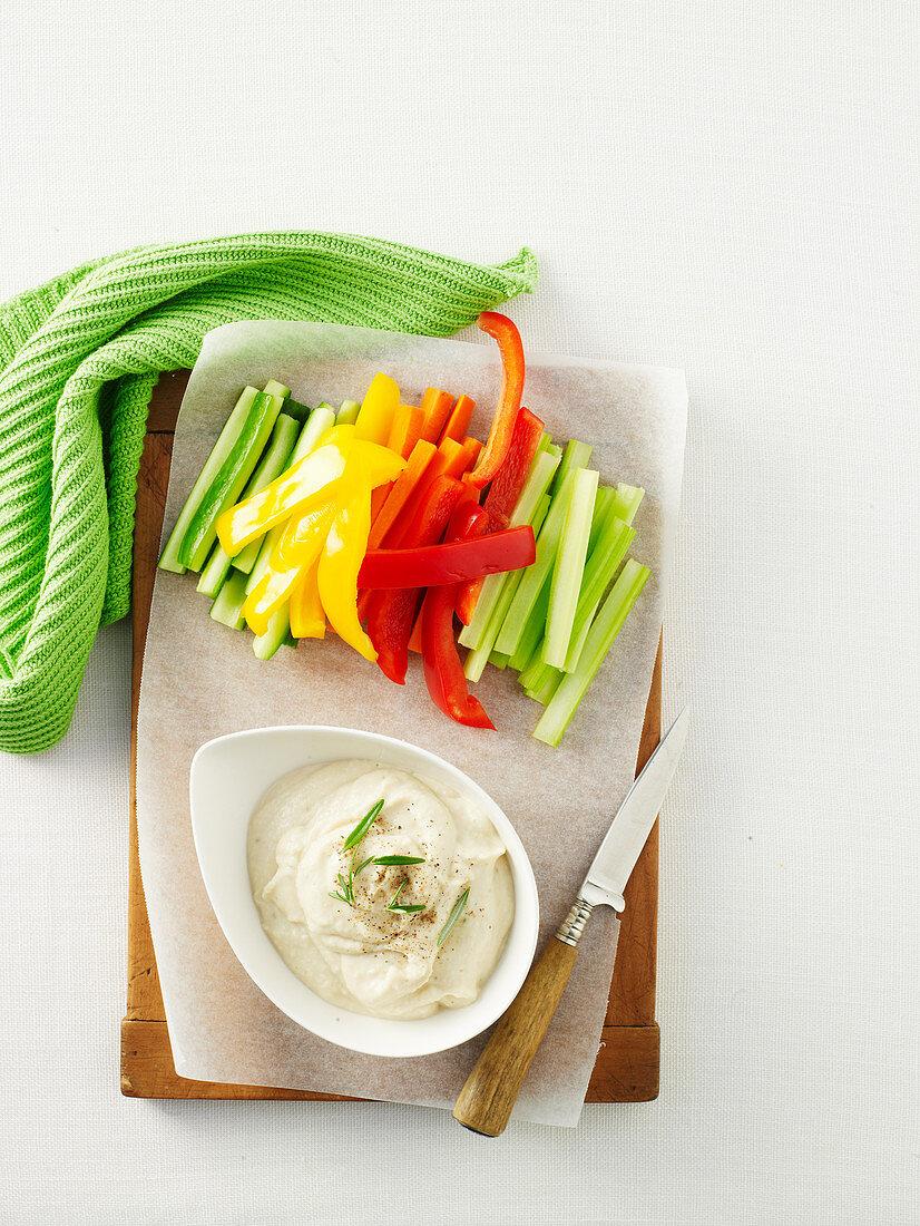 Garlic, Rosemary and White Bean Dip