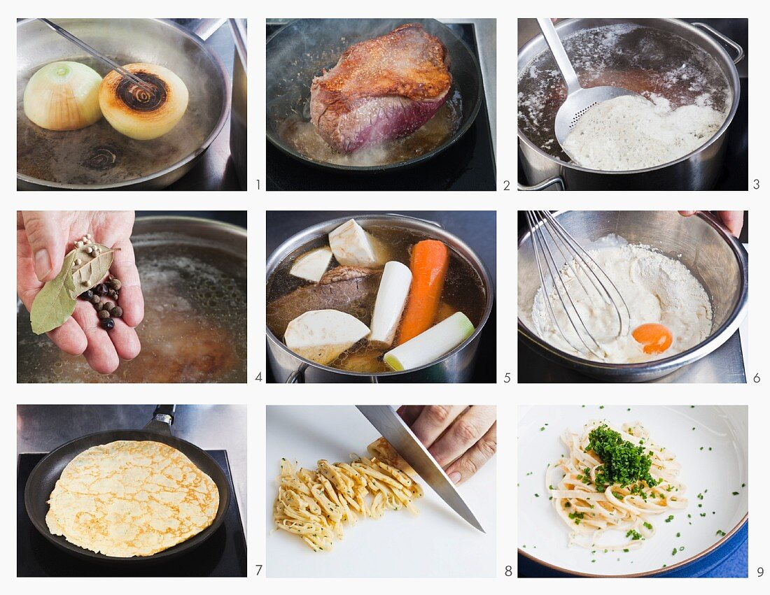 How to make prime boiled beef broth with pancake strips