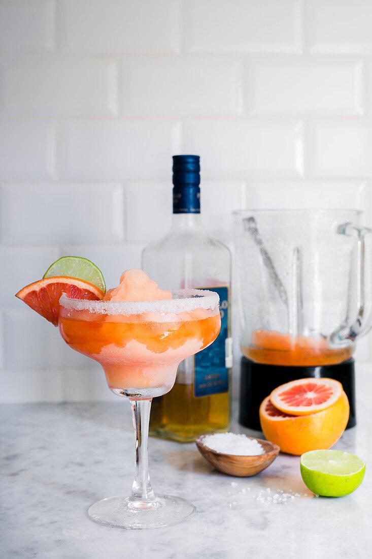 Grapefruit frozen margarita