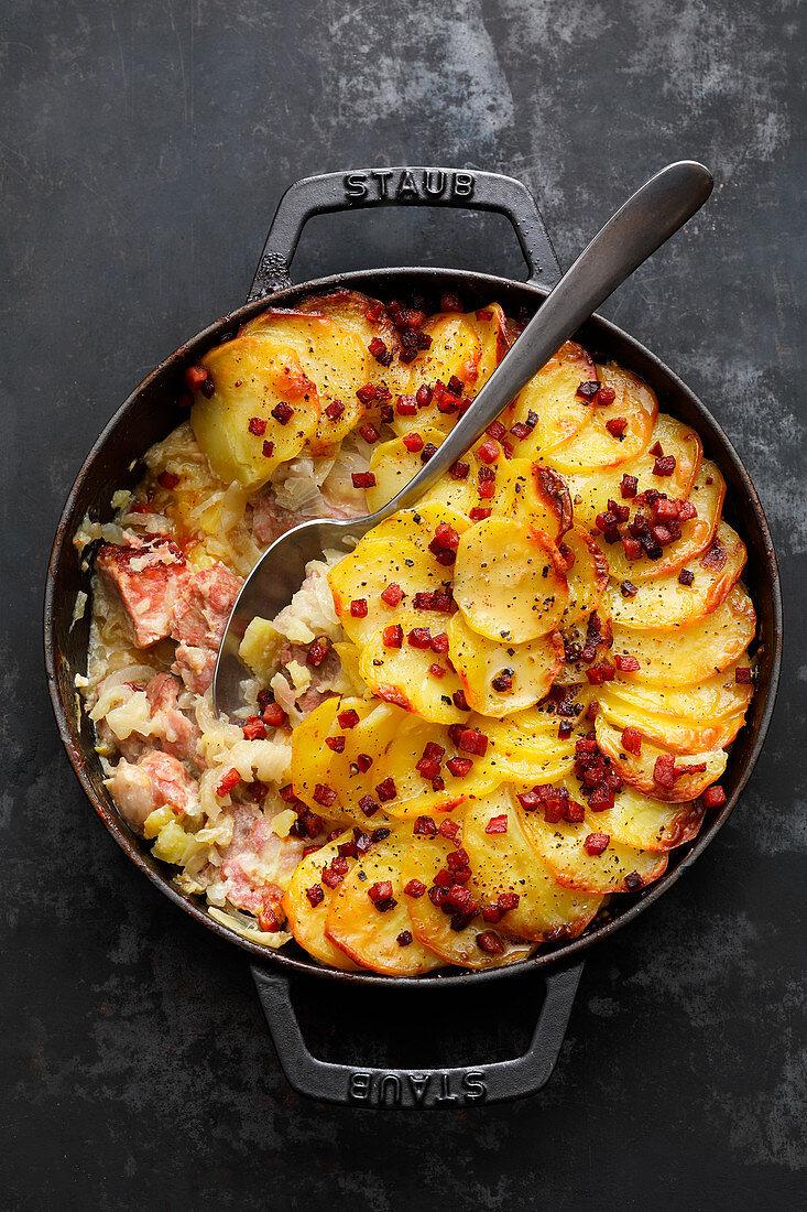 Backesgrumbeere (potato and pork dish, Rhine-Hessen)