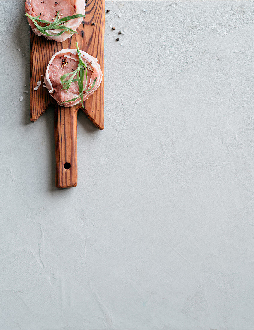 Pancetta veal medallion