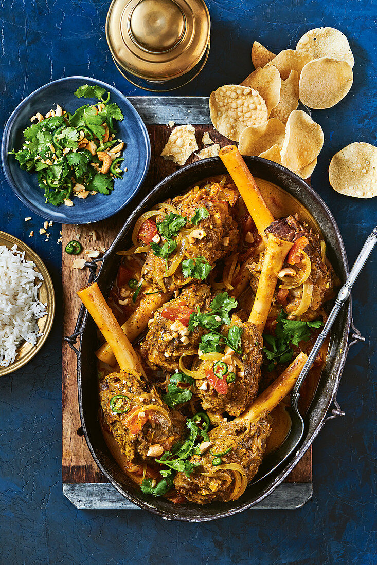 Melt-in-the-mouth slow cooker lamb shank korma (India)