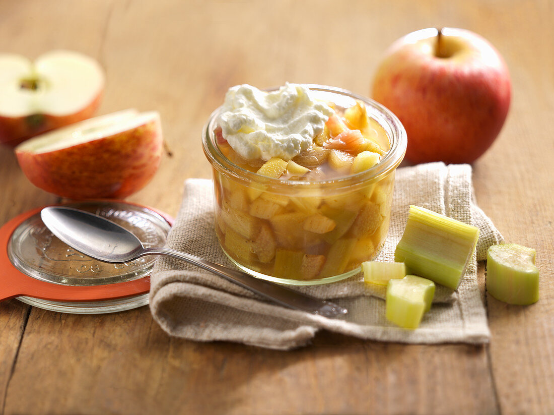 Rhubarb and apple compote