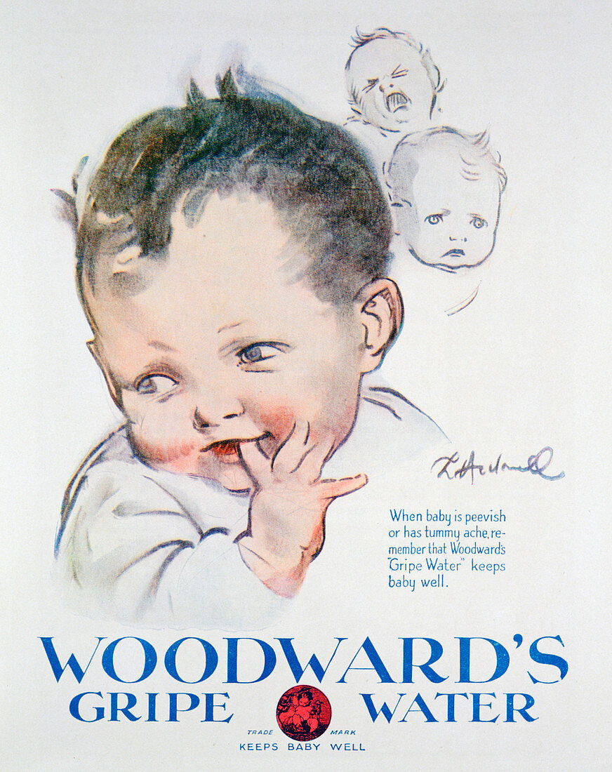 Advert for Woodward's Gripe Water, 1925