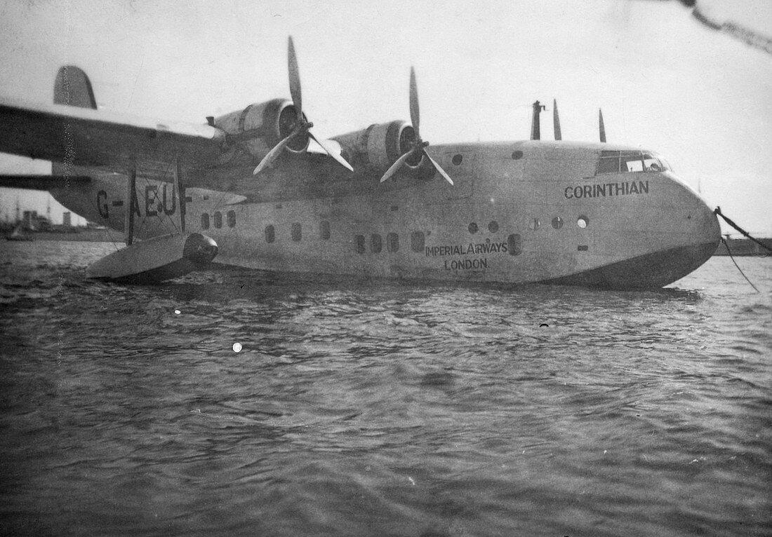 Short Empire flying boat Corinthian, Alexandria, Egypt