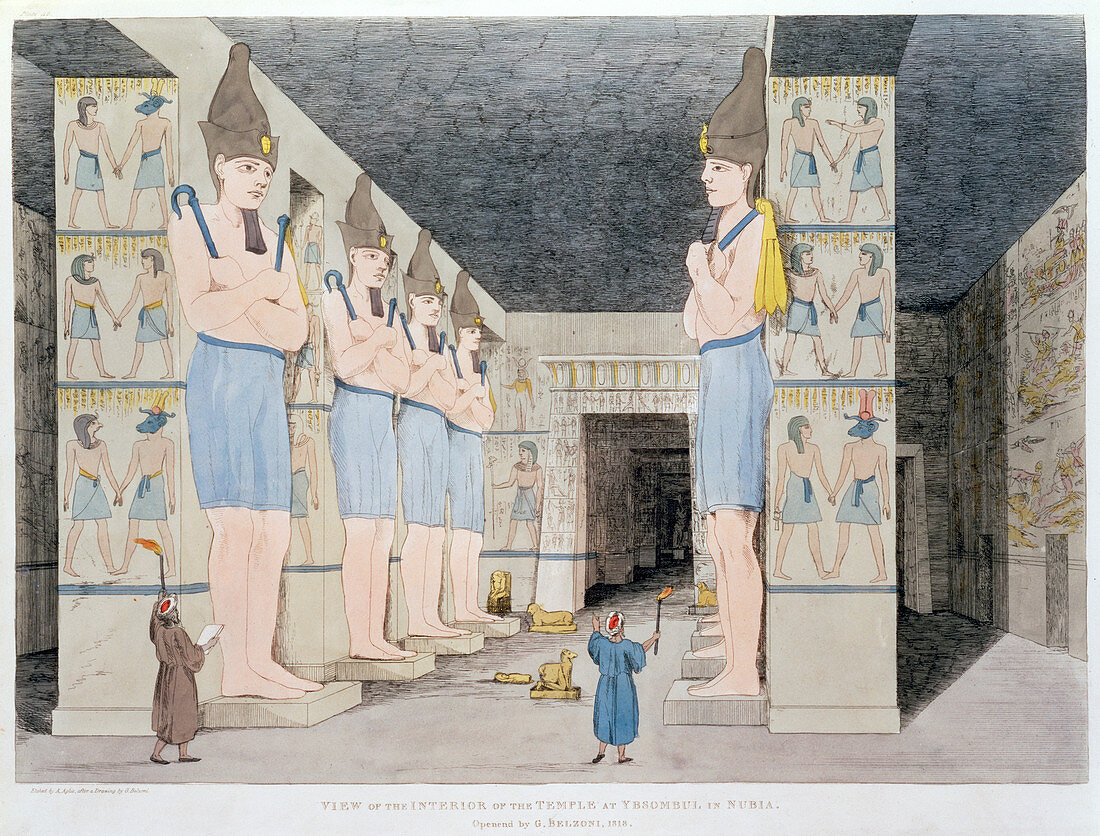 The Interior of the Temple at Ybsombul in Nubia', 1820-1822