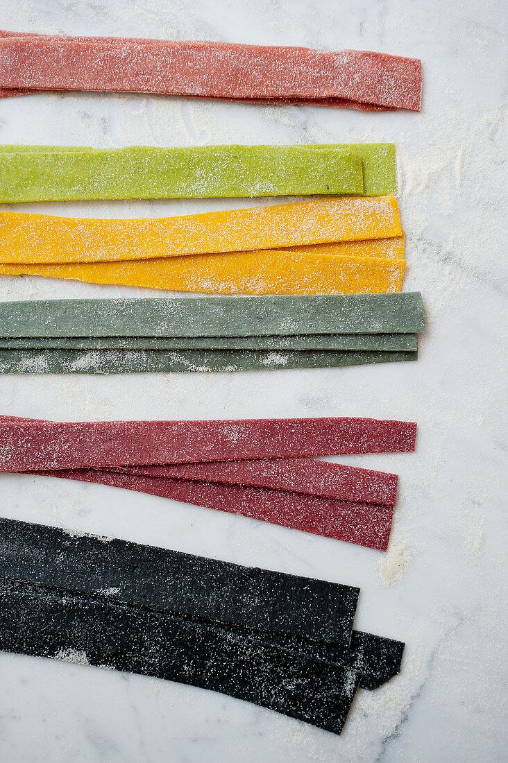 Coloured Tagliatelle