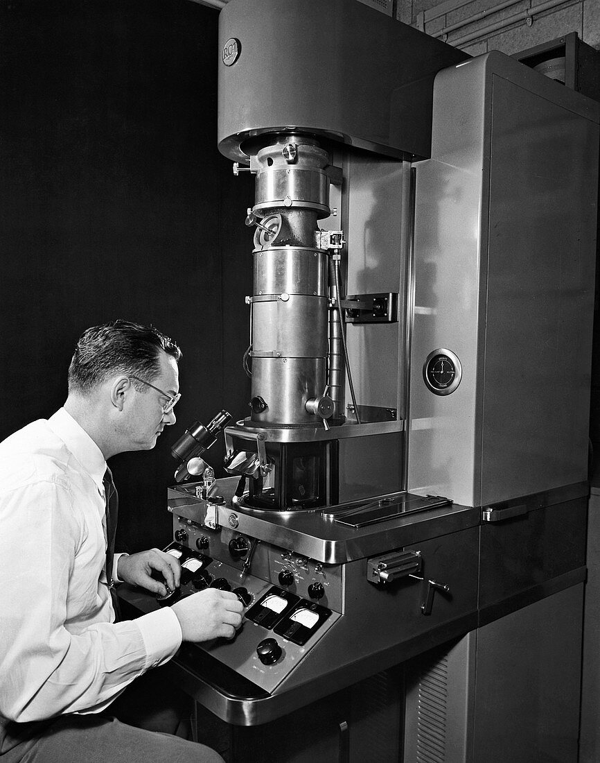 Transmission electron microscopy, 1950s