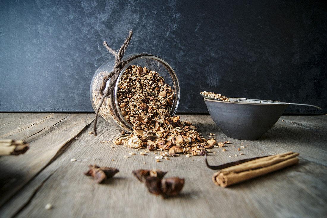 Delicious chai spiced granola