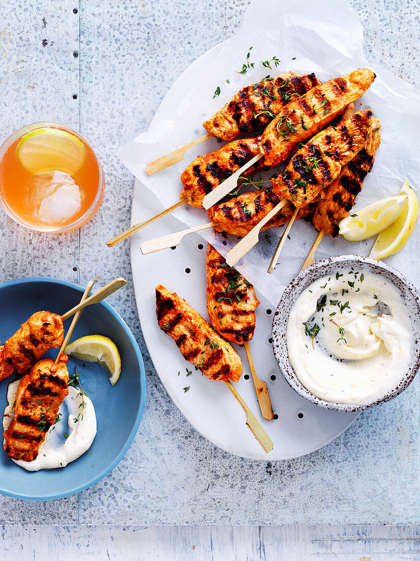 Portuguese-Style Chicken Skewers