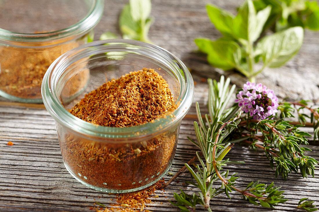 Homemade gyros spice mix