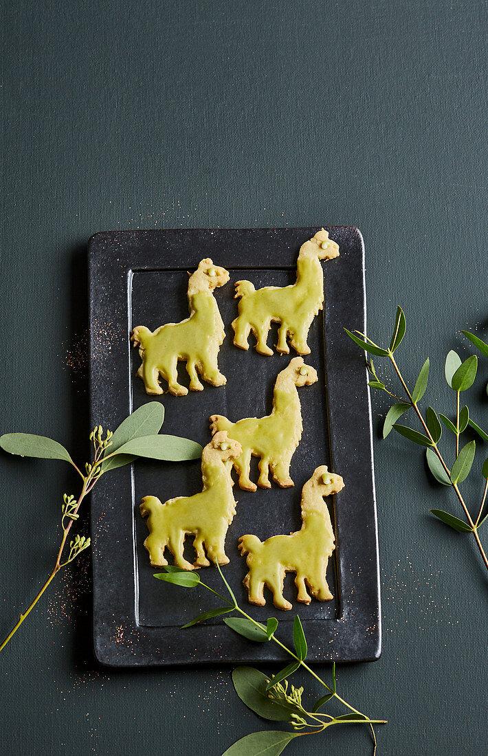 Matcha and coconut llamas