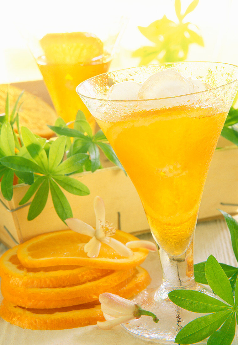 Woodruff liqueur flavoured with dried orange flowers and vanilla