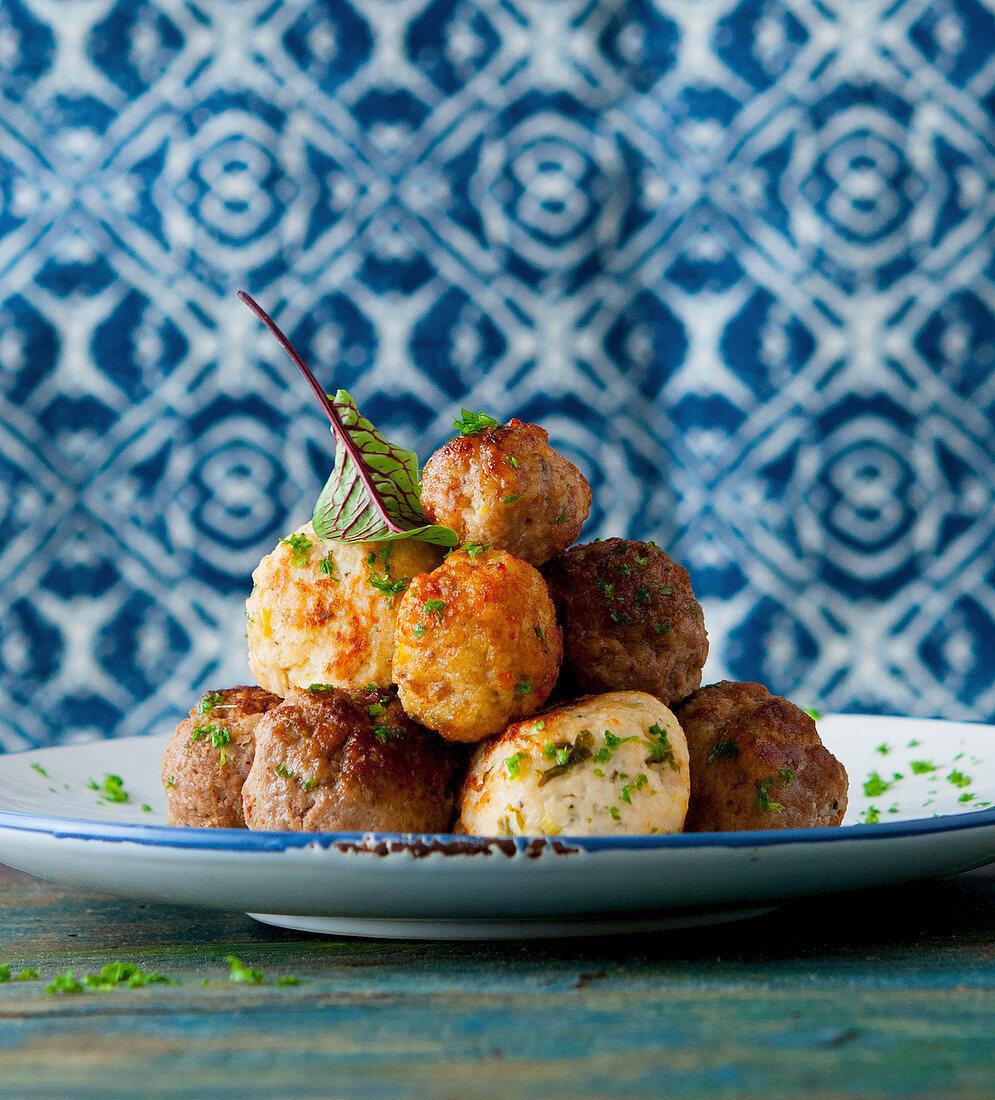 Oriental chicken meatballs