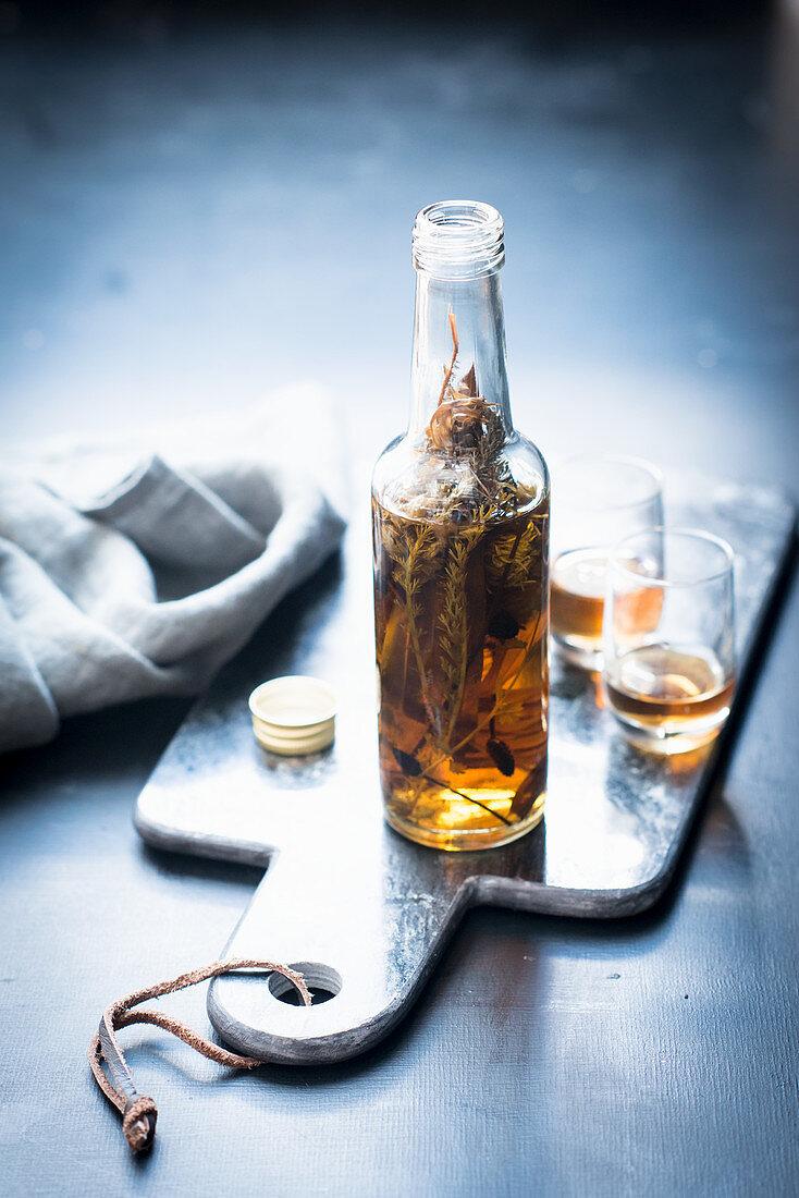 Wild herb bitter liquor