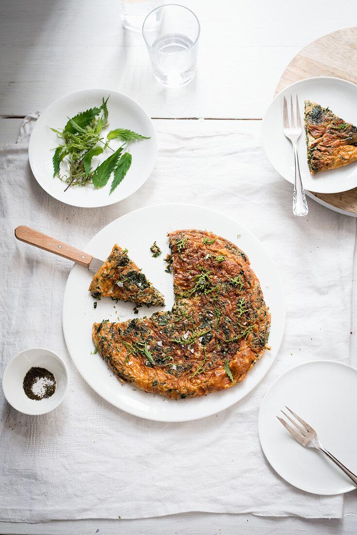 Wild herb omelette