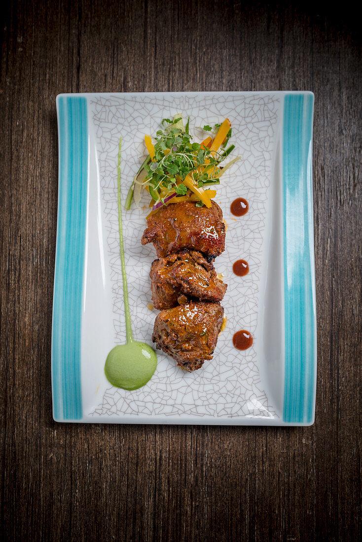 Tandoori beef tikka (India)