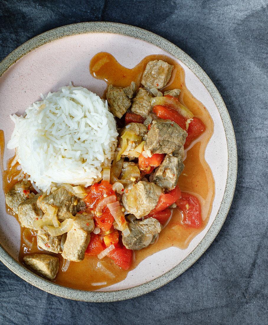 Vindaloo – Southern Indian pork curry with garam masala
