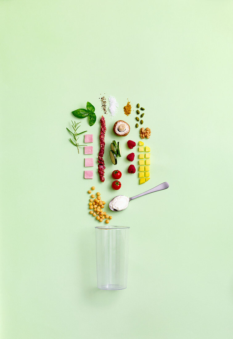 A symbolic image of ingredients for spreads