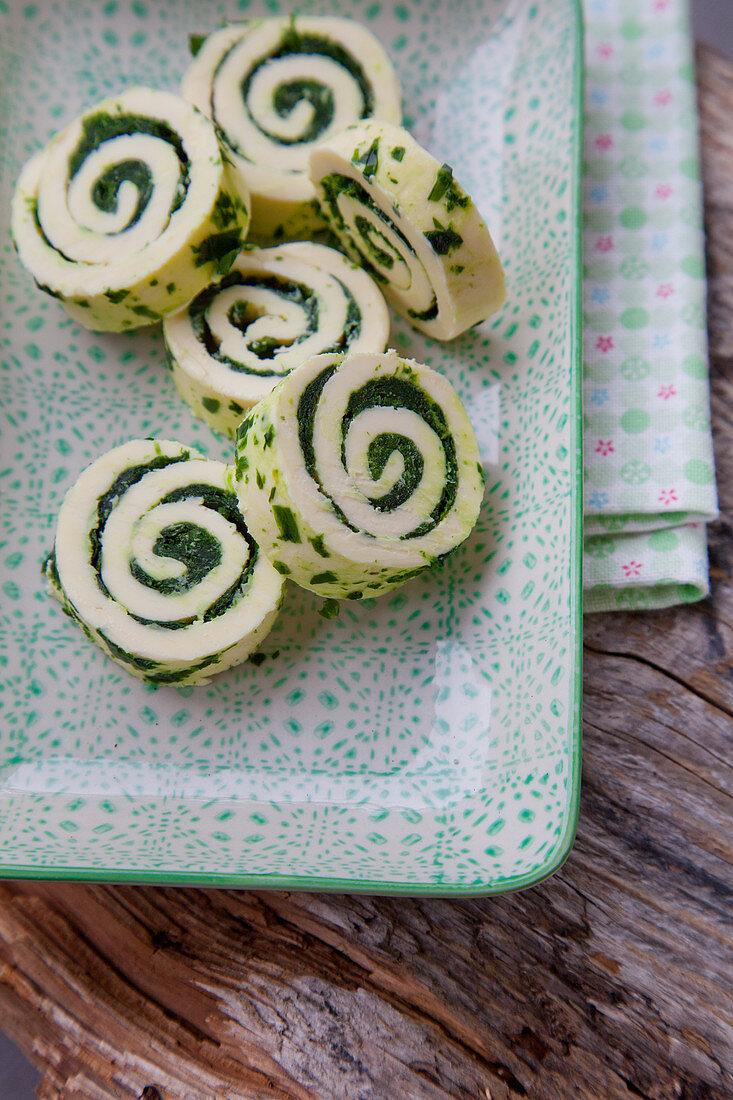Wild garlic butter rolls