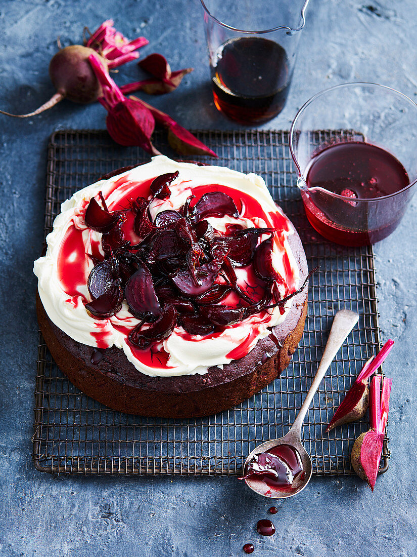 Chocolate and Beetroot Spiced Mud Cake