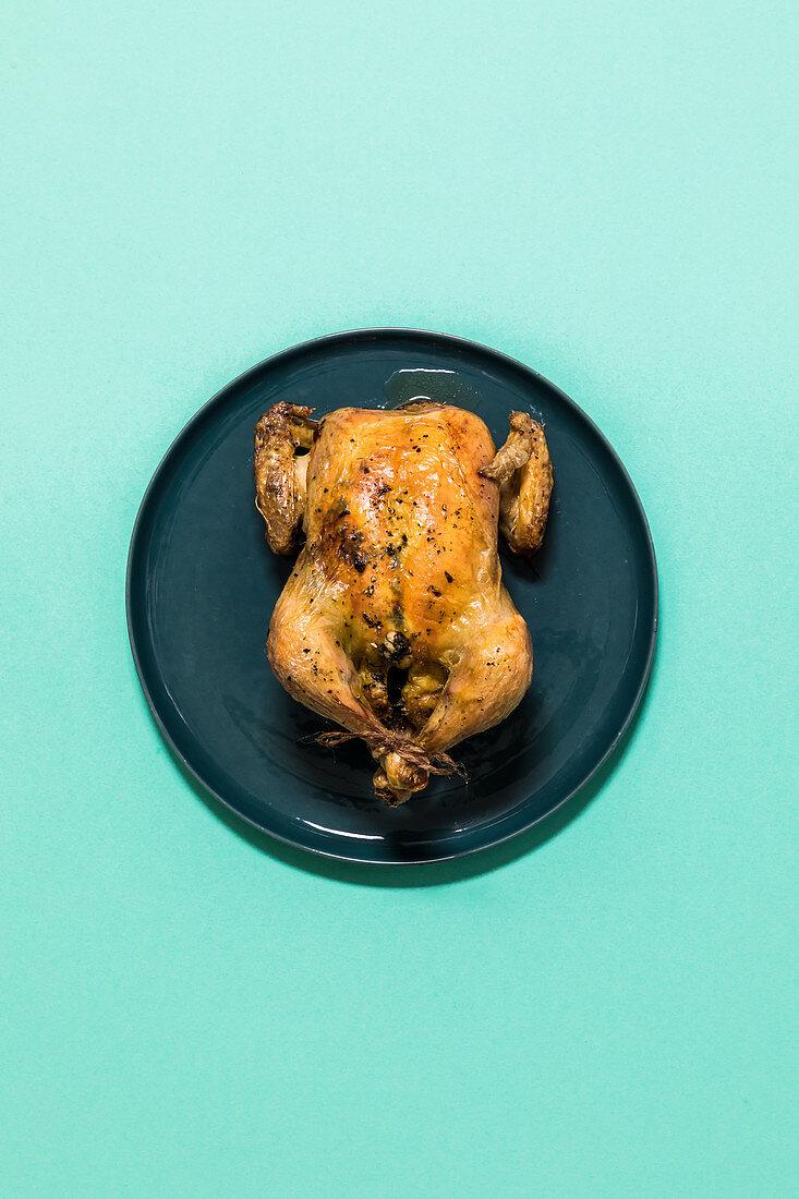 Herb roast spring chicken