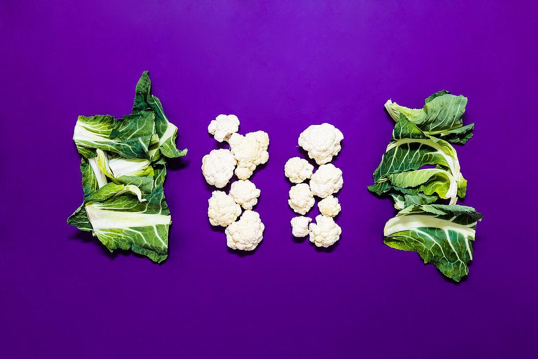 Cauliflower being prepared