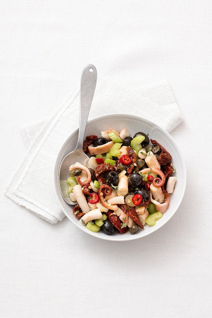 Insalata di polpo alla siciliana (warm octopus salad, Italy)