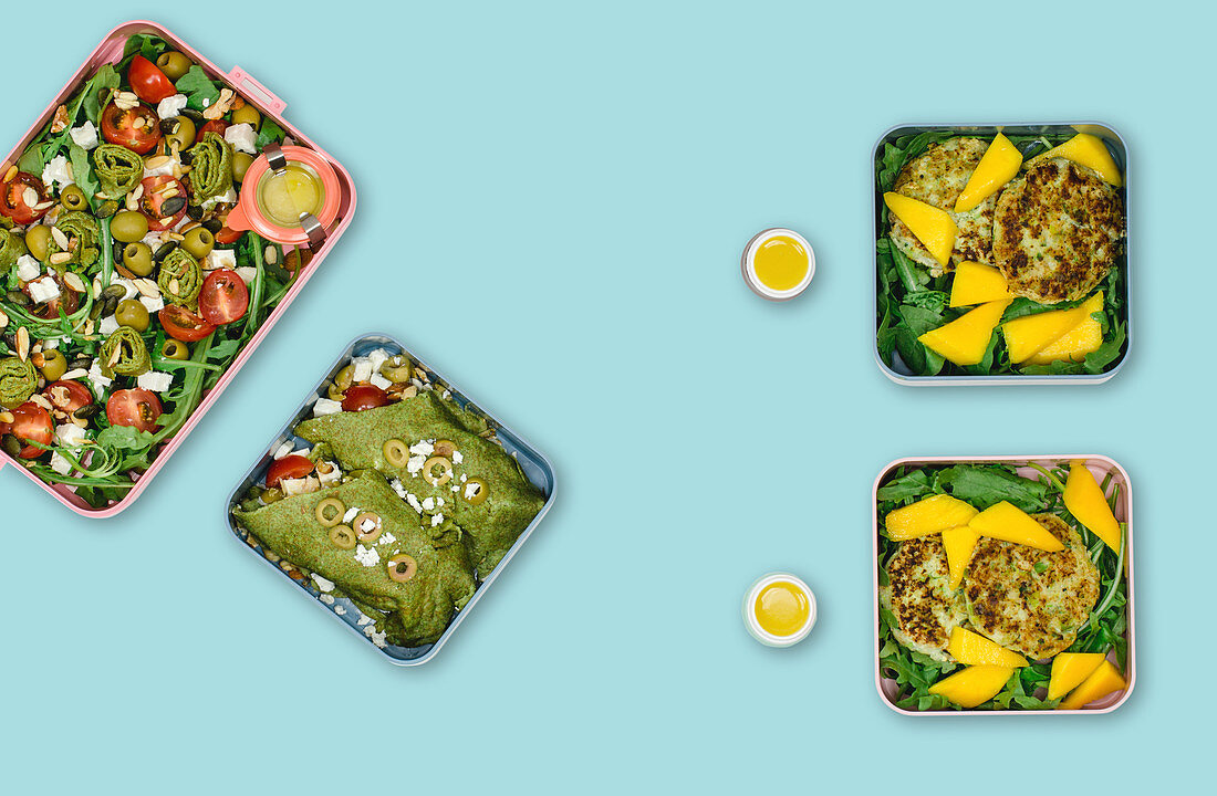 Green week with fish (meal prep)