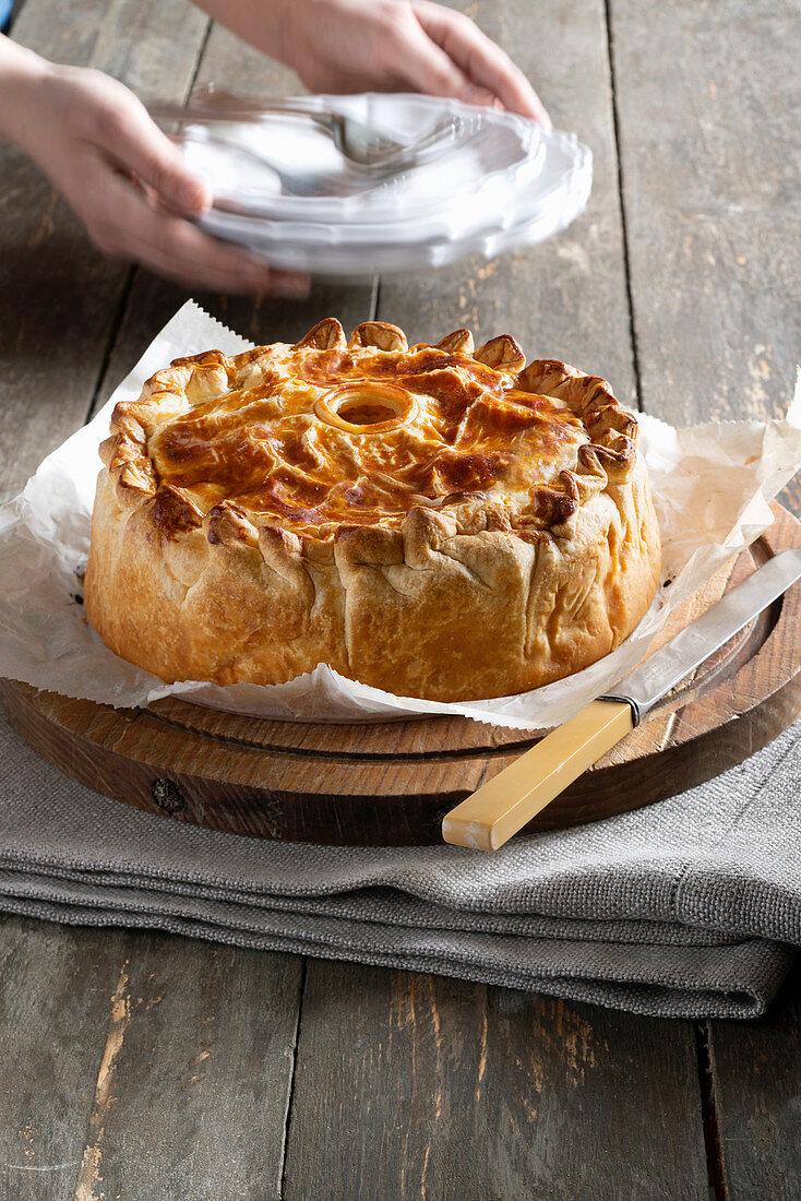 Torta della Vallée de Munster (meat pie from Munstertal valley)