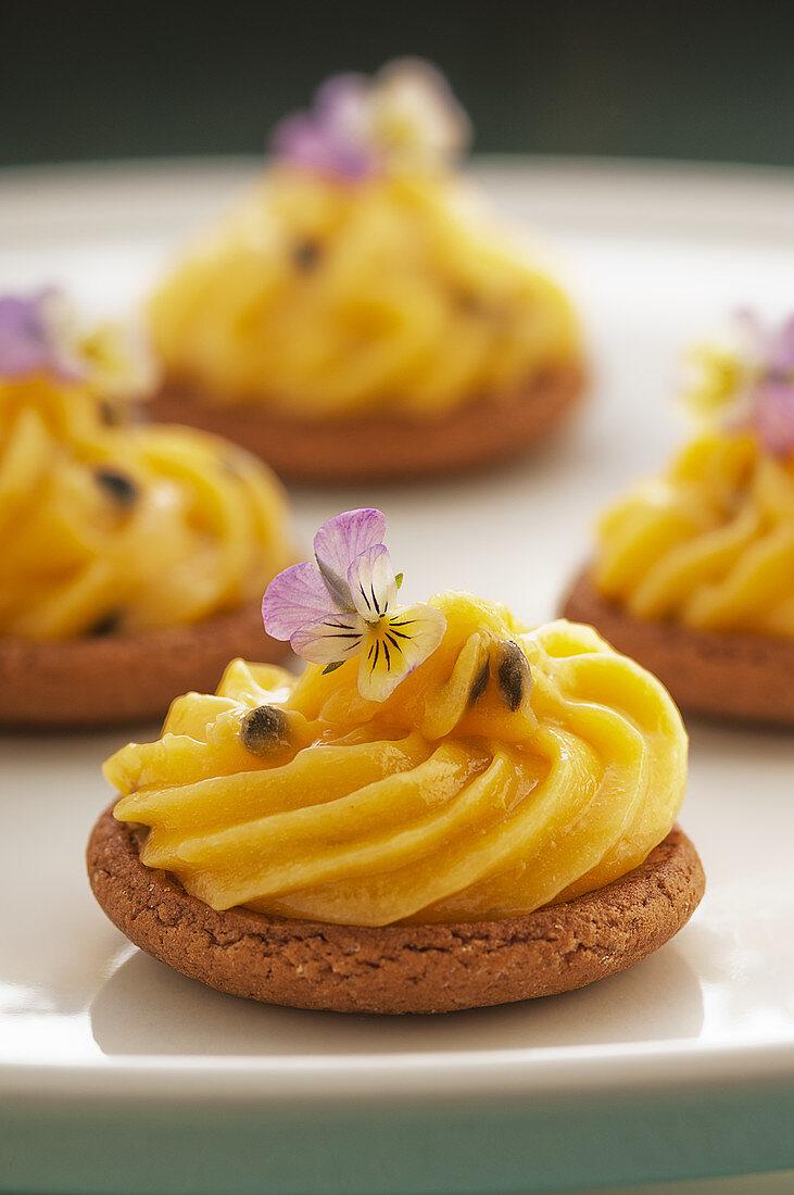 Passionfruit tartlets