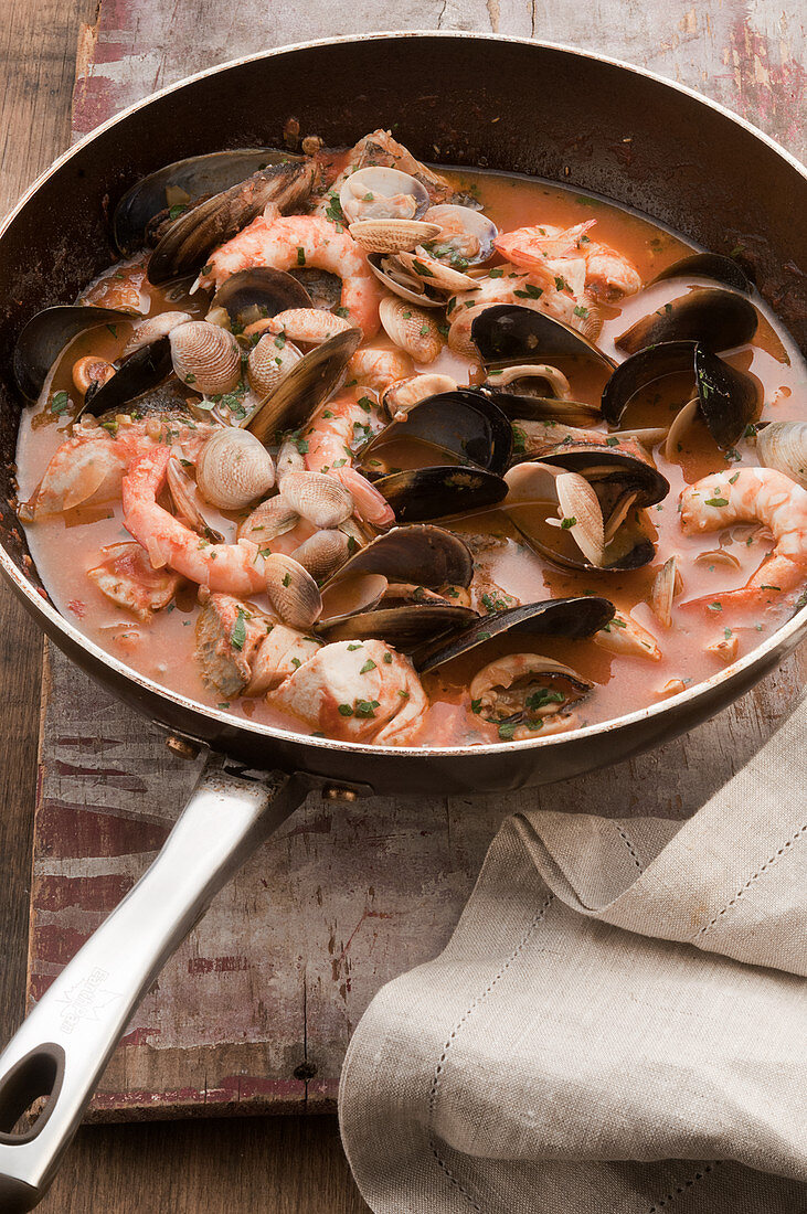 Fish stew with mussels