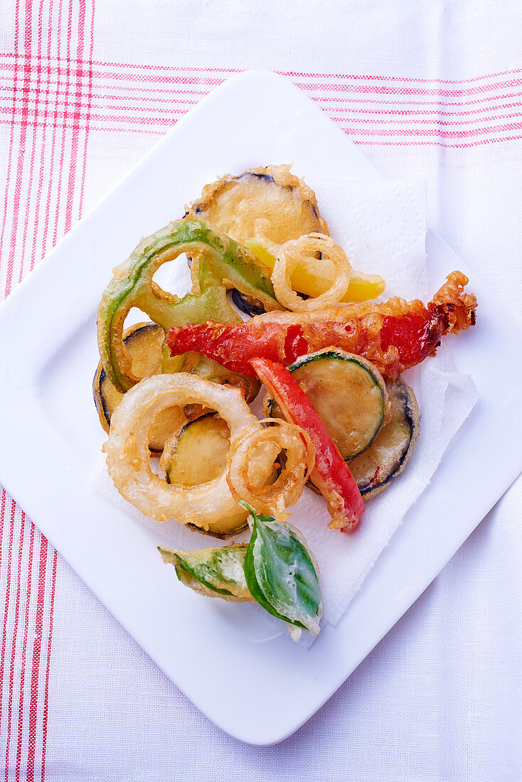 Ratatouille tempura