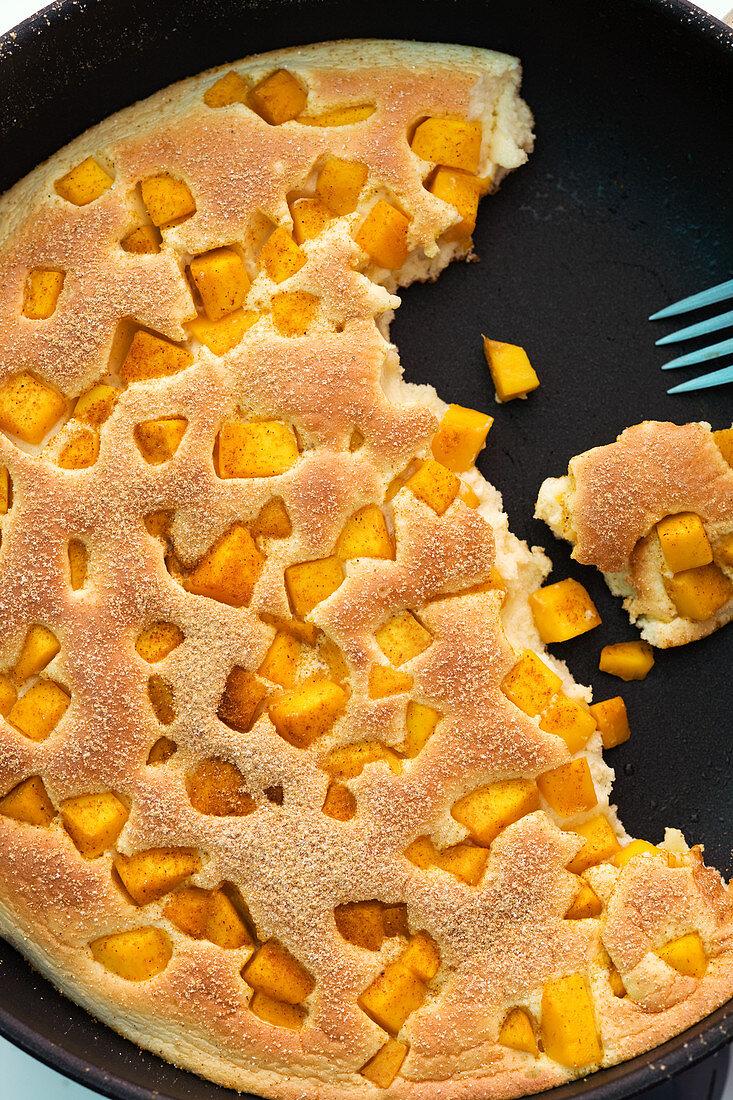 Shredded mango pancake