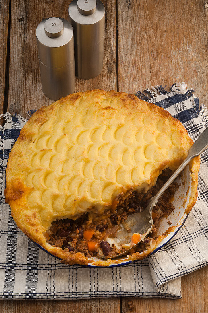 Beef mince and onion cottage pie