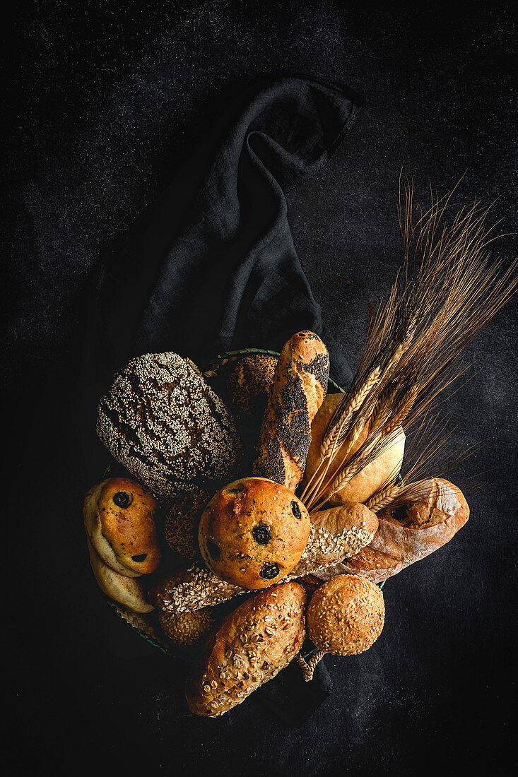 Natural Assortments of homemade breads