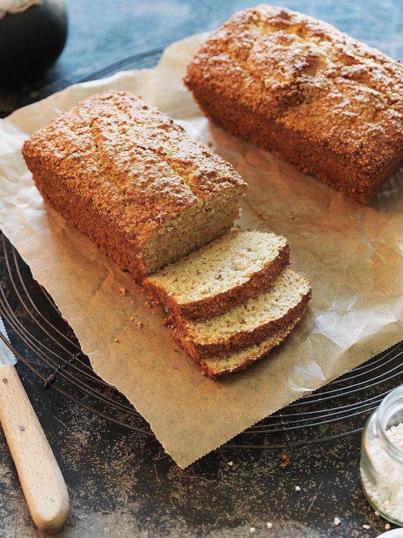 Amaranth cake on baking paper