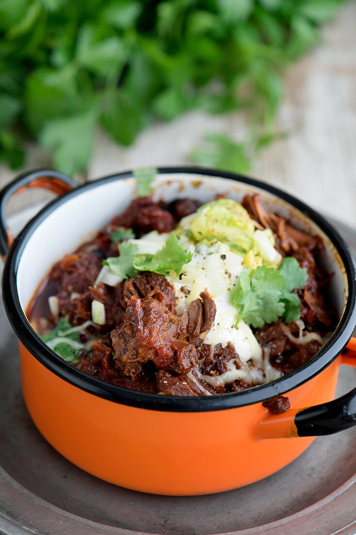 Chili with moose meat
