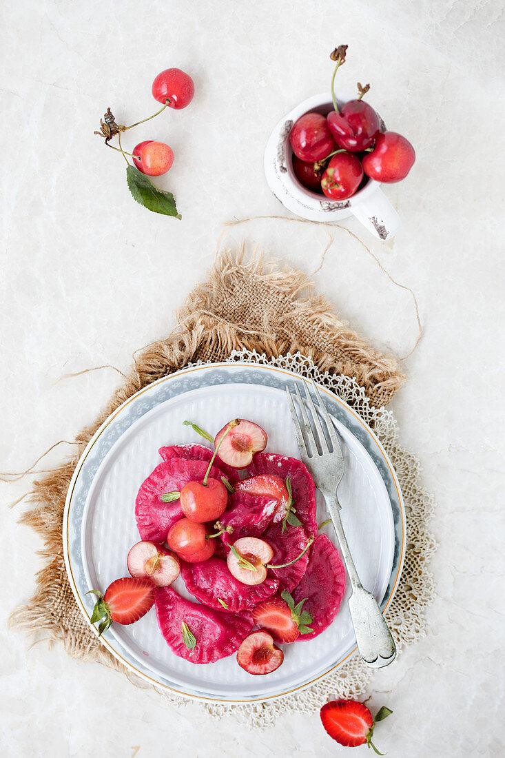 Tortellini with Cherries (Russian Vareniki)