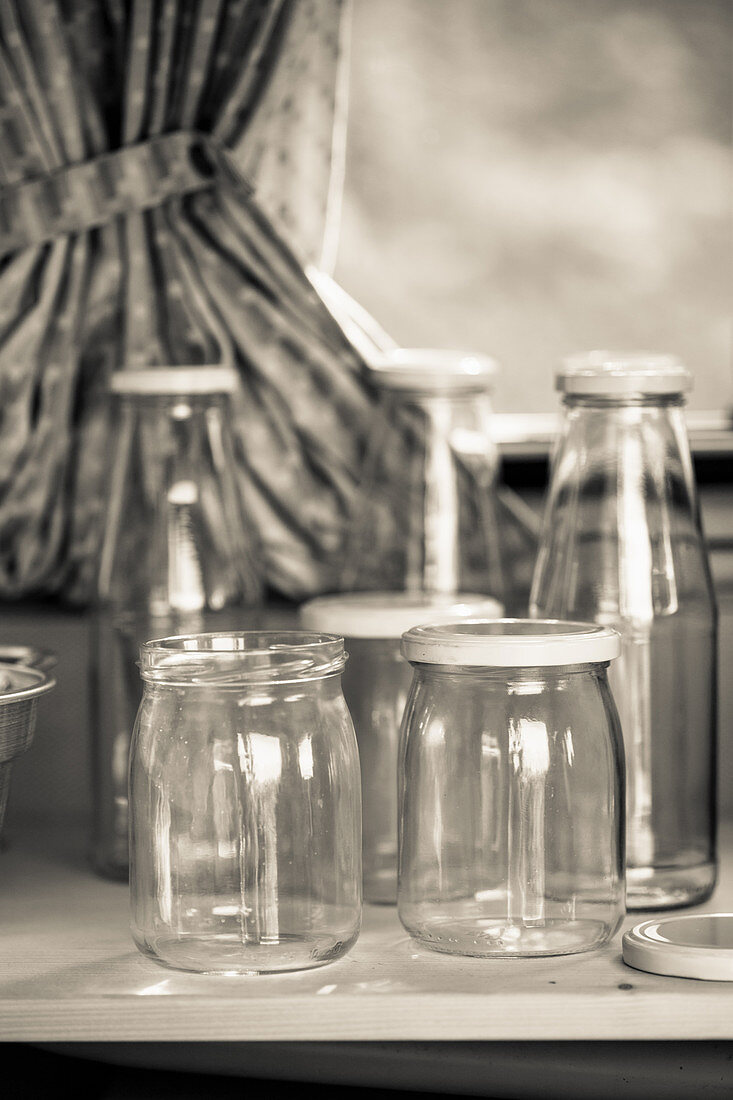 Bottles and jars for canning