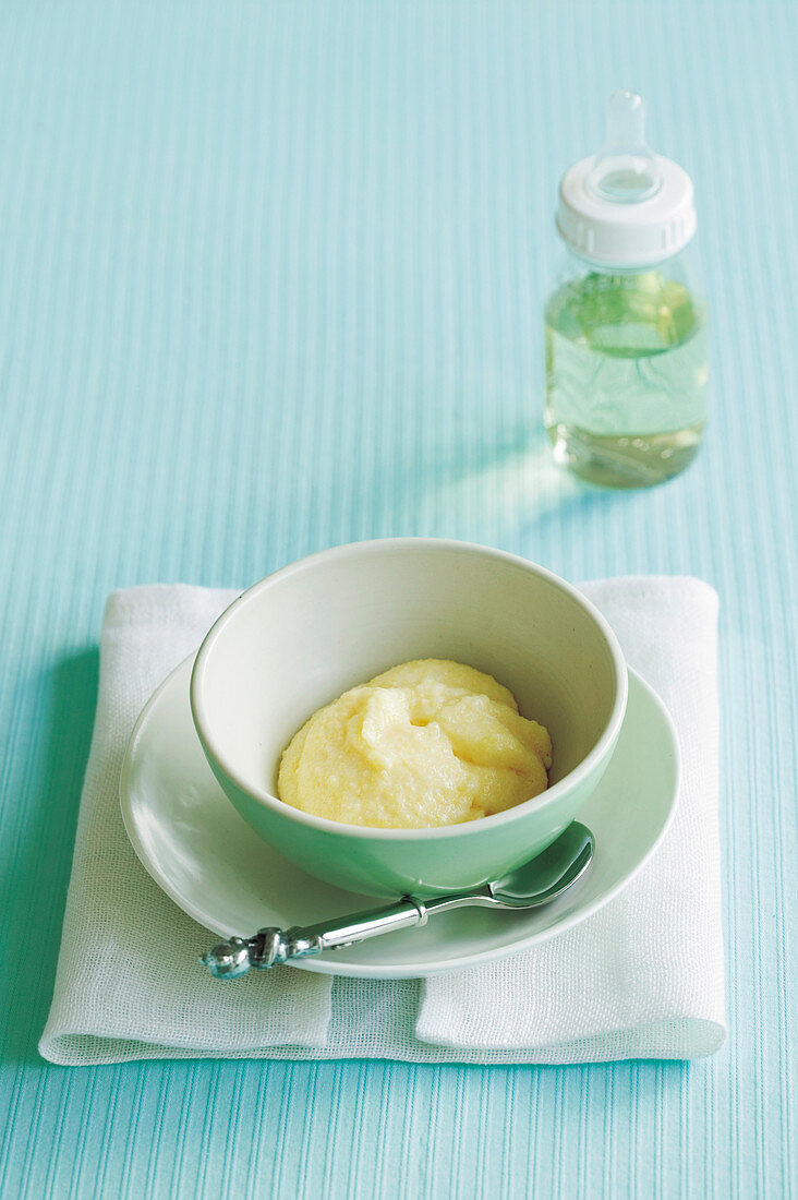 Creamy Cheese Polenta for babies (6-9 Months)